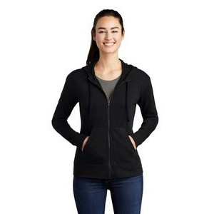 Sport-Tek® Ladies' PosiCharge® Tri-Blend Wicking Fleece Full-Zip Hooded Jacket
