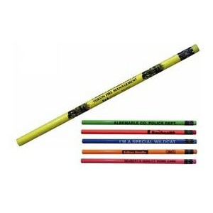 Fluorescent Pencil w/ Matching Neon Eraser (Spot Color)