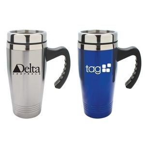 Double Stainless Steel Travel Mug with Handle
