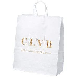 Citation White Shopper Bag (Foil)