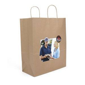 Eco Guard Sealable Paper Shopper Bag (ColorVista)