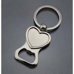 Heart Shaped Bottle Opener Key Tag
