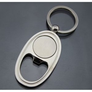 Ellipse Bottle Opener Key Tag