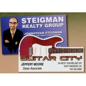 Guitar Business Card Magnet - 5.1-7 Sq. In. (30MM Thick)