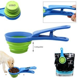 Bowl Collapsible With Pet Scoop Clip