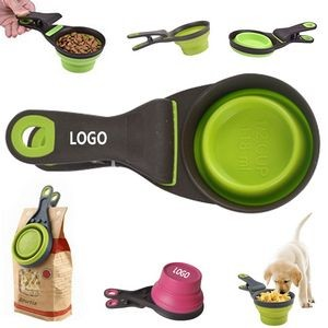 Pet Bowl Collapsible Scoop Clip