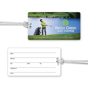 Ultra-Thin Luggage Tag with Clear Strap