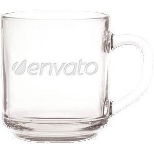 10 Oz. Capri Glass Coffee Mug - Etched