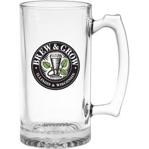 25 Oz. Thumbprint Glass Tankard