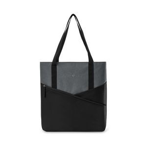 Black/Charcoal Heather Gray Daily Commuter Computer Tote Bag