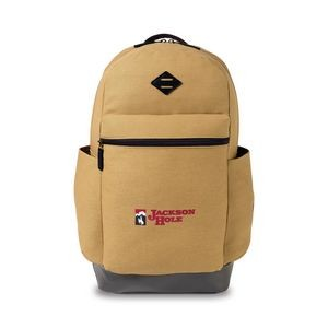 Heritage Supply Ridge Cotton Classic Computer Backpack Brown-Yellow