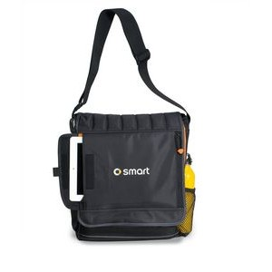 Impact Vertical Computer Messenger Bag Black-Orange