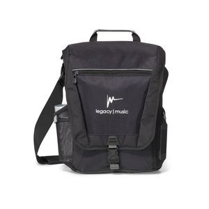 Vertex® Vertical Computer Messenger Bag Black