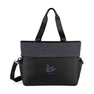 Black/Charcoal Heather Gray Life in Motion® All Day Deluxe Computer Tote Bag