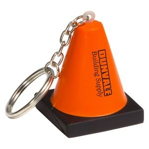 Construction Cone Stress Reliever Key Chain