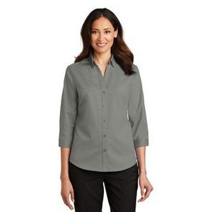 Port Authority® Ladies ¾-Sleeve SuperPro™ Twill Shirt