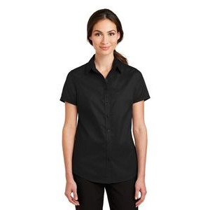 Port Authority® Ladies Superpro™ Twill Short Sleeve Shirt