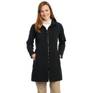 Port Authority® Ladies Long Textured Hooded Soft Shell Jacket