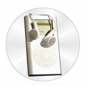 "Mp3 Player Round Metal Photo Magnet (2 1/2"")"