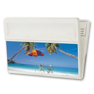 Large Magnetic Clip w/ 3D Lenticular Image of Tropical Beach (Blank)