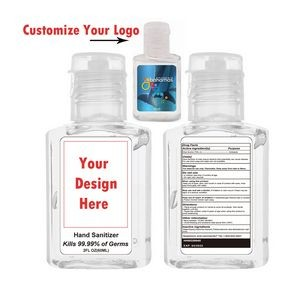 Hand Sanitizer with Alcohol, 2 oz. - Printed