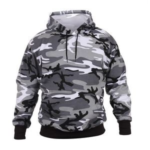 Adult City Camouflage Pullover Hooded Sweatshirt (S-XL)