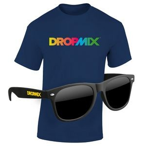 KIT: Full-Color DTG T-Shirt (Dark/Colors) & Sunglasses
